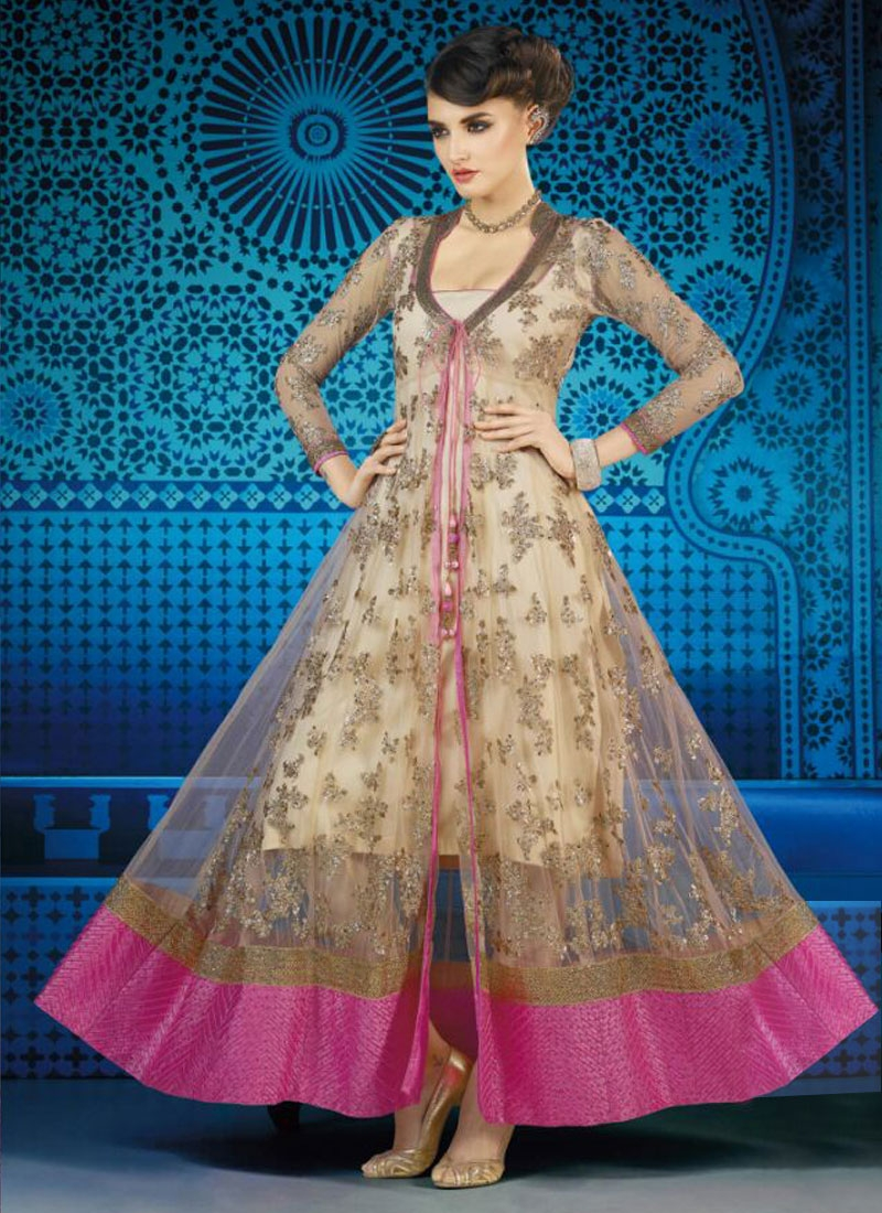 Distinctive Patch Border Work Designer Salwar Suit