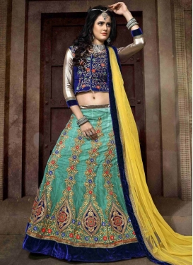 Distinctive Velvet Patch Work Wedding Lehenga Choli
