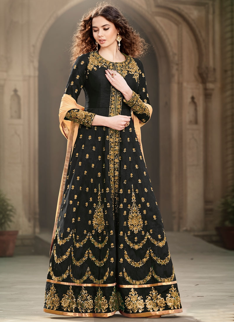 Distinctively Cutdana Work Long Length Wedding Salwar Suit