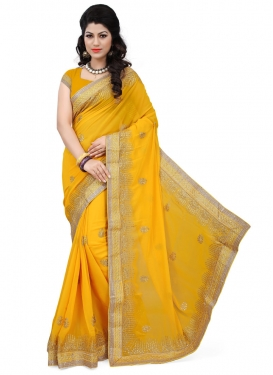Distinctively Faux Georgette Party Wear Saree