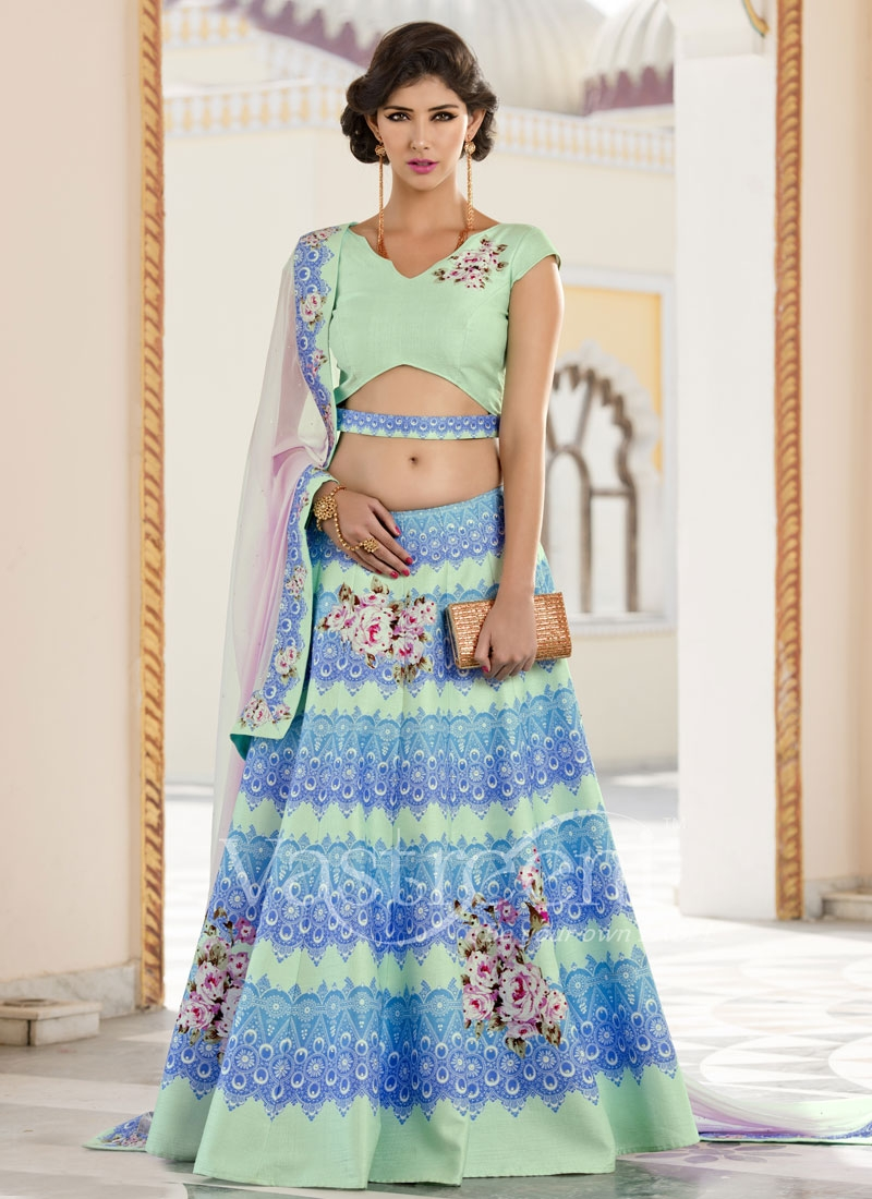 Distinctively Mint Green Color Designer Lehenga Choli