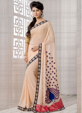 Distinctively Pure Georgette Party Wear Saree