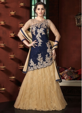 Distinctively Stone Work Navy Blue Color Designer Lehenga Choli