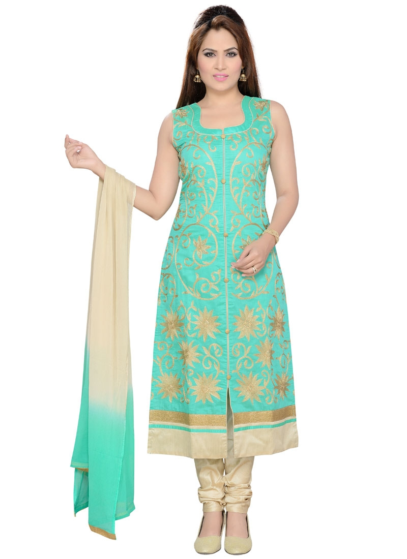 Distinctively Stone Work Party Wear Readymade Salwar Suit