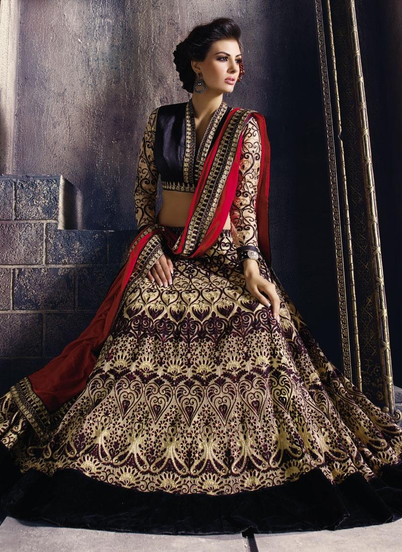 Distinctively Velvet Patch Work Designer Lehenga Choli