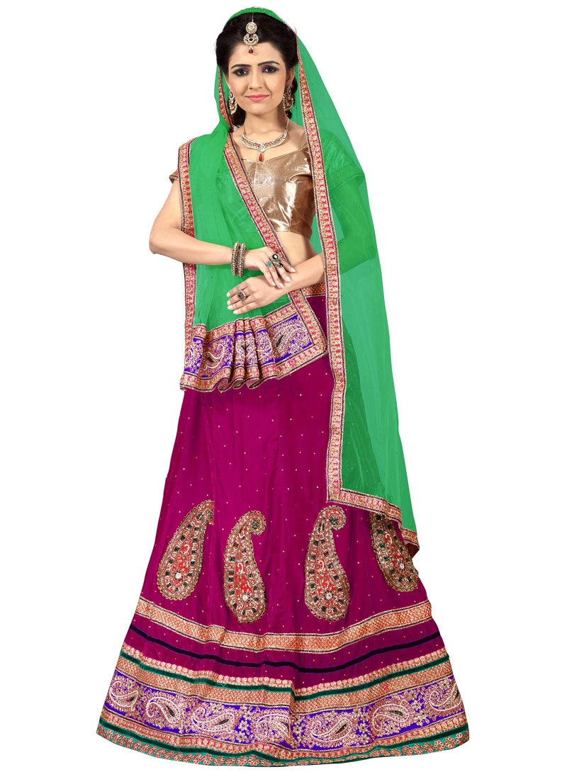 Distinctively Velvet Stone Work Designer Lehenga Choli