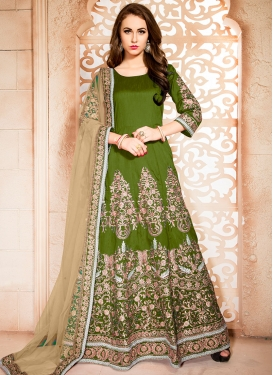 Distinguishable Ankle Length Anarkali Salwar Suit For Ceremonial