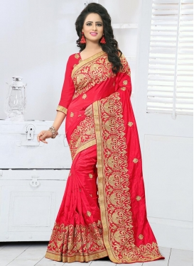 Distinguishable Art Silk Booti Work Trendy Classic Saree