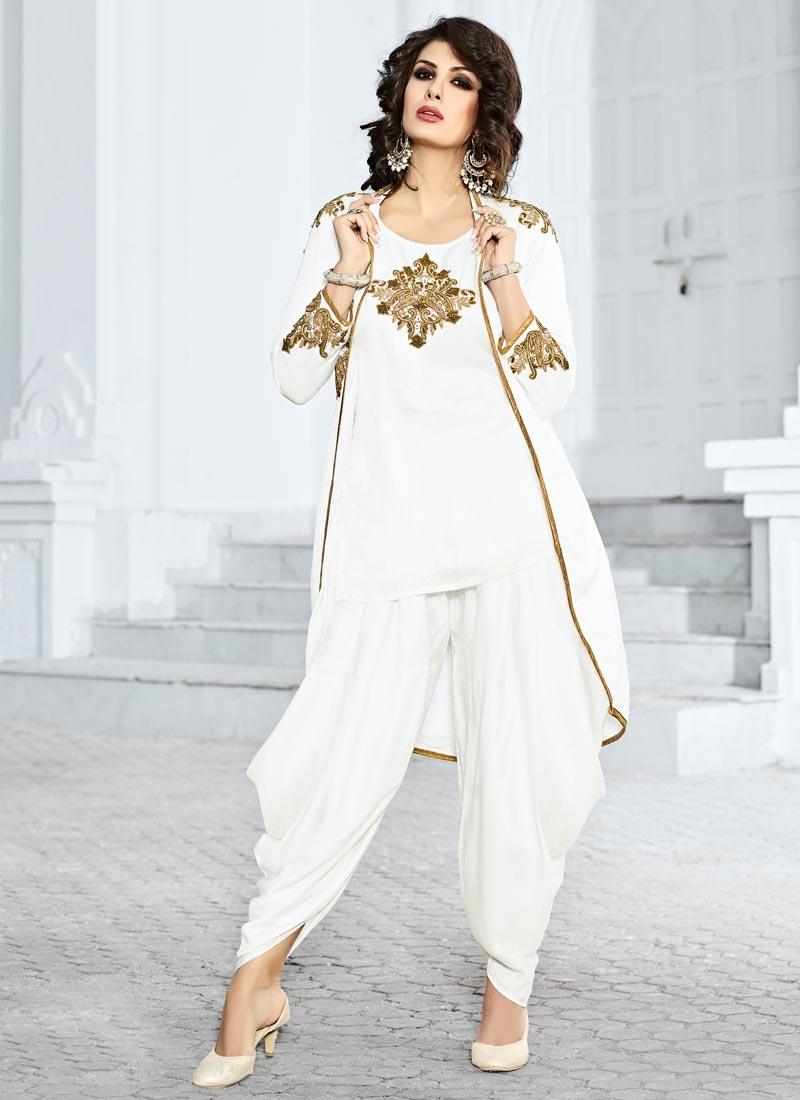 Distinguishable Booti Work Designer Patiala Suit