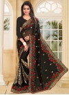 Distinguishable Booti Work Faux Georgette Designer Contemporary Style Saree