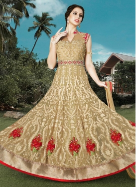 Distinguishable Booti Work Floor Length Anarkali Salwar Suit