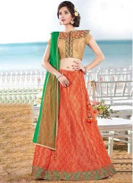 Distinguishable Cutdana Work  Trendy A Line Lehenga Choli