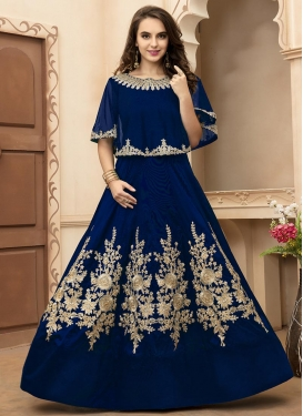 Distinguishable Embroidered Work Anarkali Suit