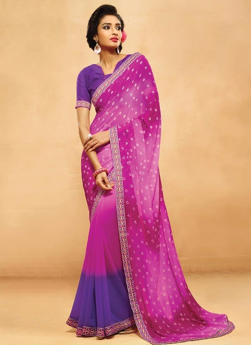 Distinguishable Faux Chiffon Casual Saree