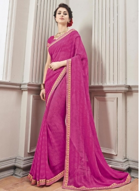 Distinguishable  Faux Chiffon Classic Saree For Ceremonial
