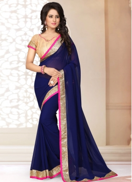 Distinguishable Faux Georgette Casual Saree