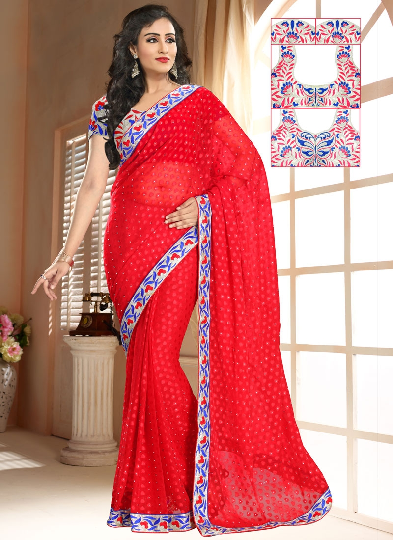 Distinguishable Lace Work Casual Saree