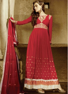 Distinguishable Red Color Wedding Suit
