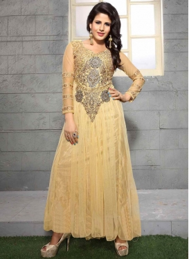 Distinguishable Resham Work Designer Readymade Gown