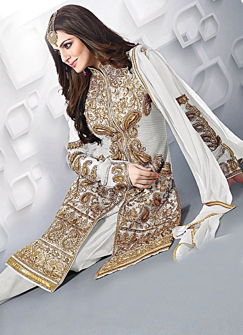 Distinguishable Resham Work Wedding Suit