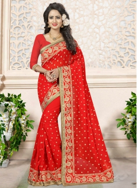 Divine Beads Work Trendy Classic Saree