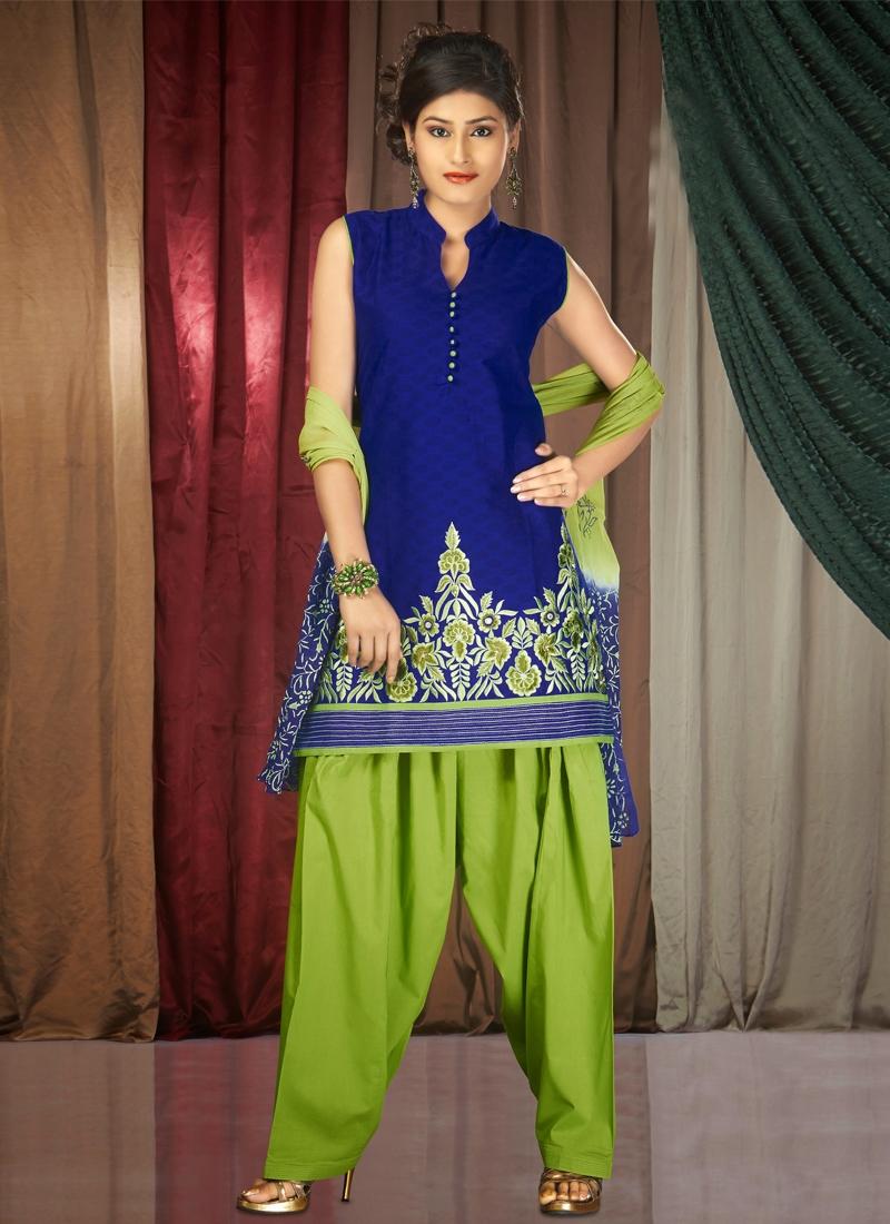 Divine Chanderi Cotton Silk Readymade Salwar Suit