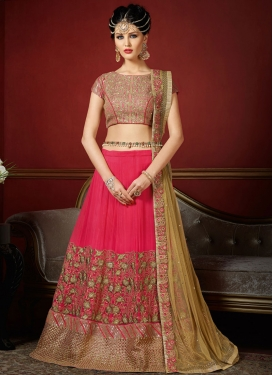 Divine Embroidered Work Designer A Line Lehenga Choli