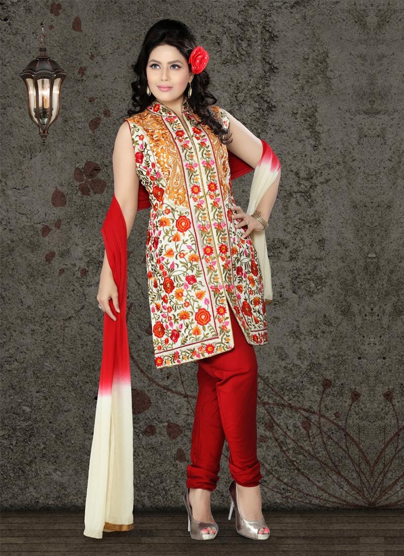 Divine Jaal Work Readymade Designer Salwar Kameez