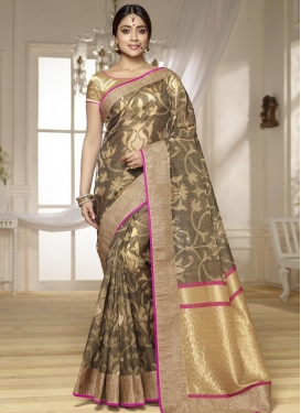 Divine  Lace Work Classic Saree For Ceremonial