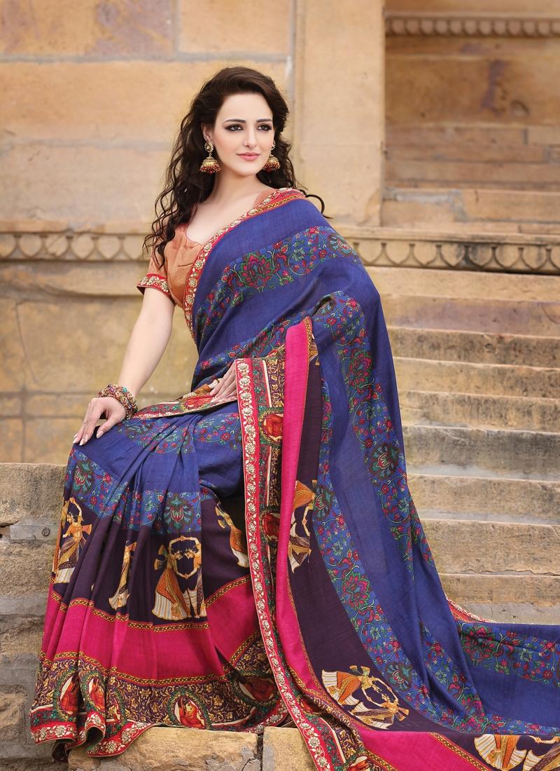 Divine Resham Enhanced Party Wear Saree