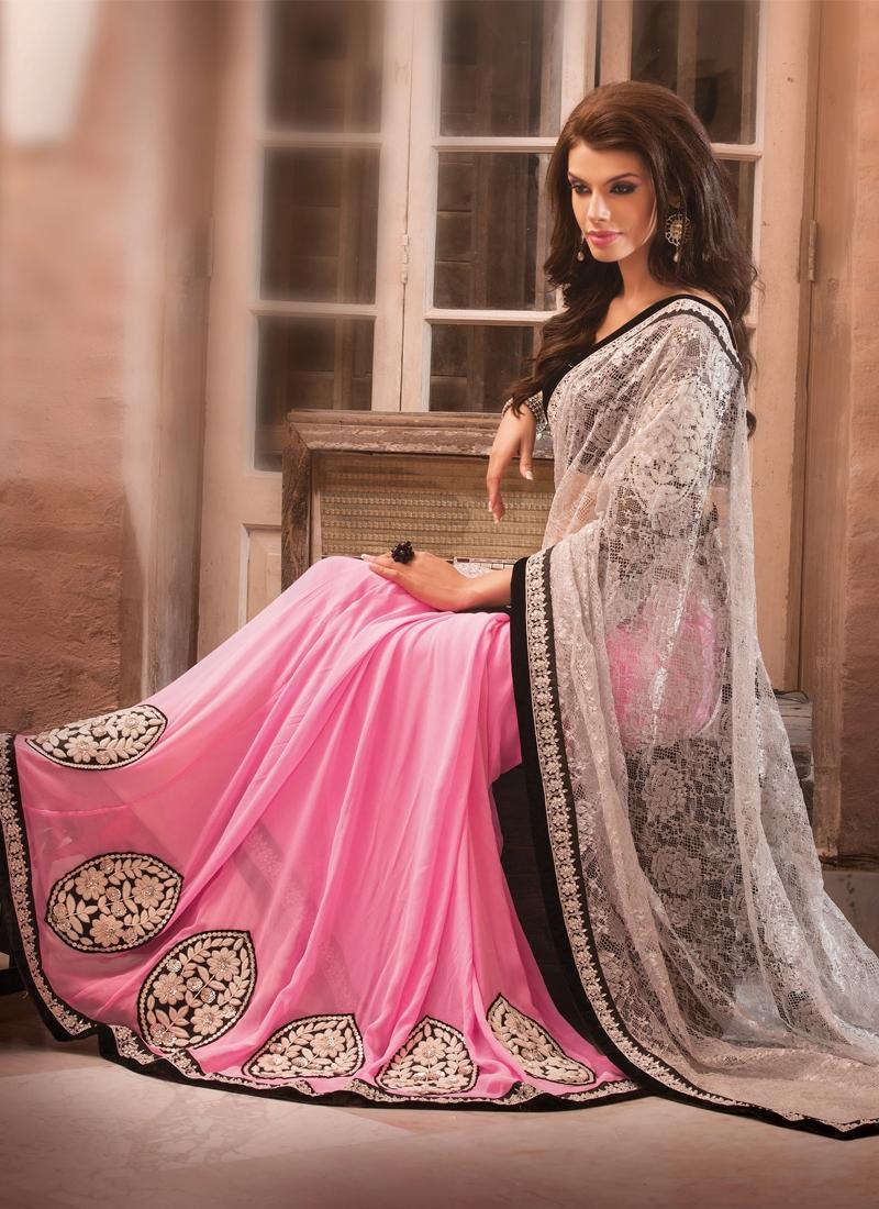 Divine Sequins And Resham Work Lehenga Saree
