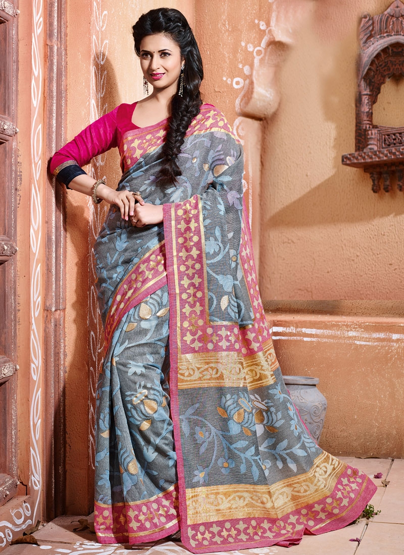 Divyanka Tripathi Printed Party Wear Saree