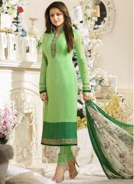 Drashti Dhami Crepe Silk Pakistani Salwar Kameez