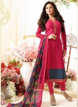 Drashti Dhami Crepe Silk Pakistani Straight Salwar Suit