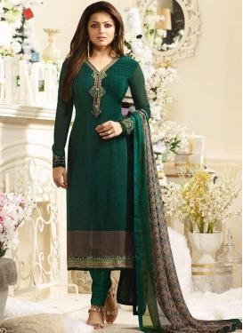 Drashti Dhami Crepe Silk Pakistani Straight Suit