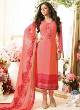 Drashti Dhami Crepe Silk Trendy Pakistani Suit