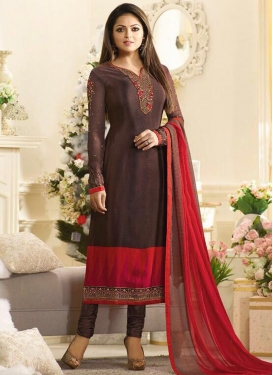 Drashti Dhami Embroidered Work Designer Pakistani Salwar Suit