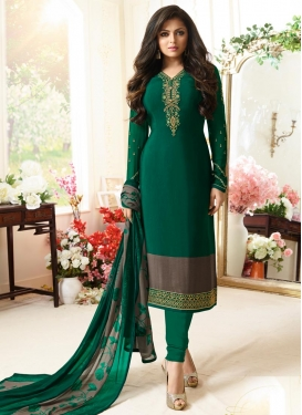 Drashti Dhami Embroidered Work Pakistani Salwar Kameez