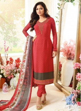 Drashti Dhami Embroidered Work Pakistani Salwar Suit