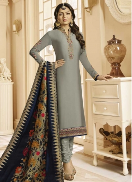 Drashti Dhami Embroidered Work Trendy Churidar Salwar Suit