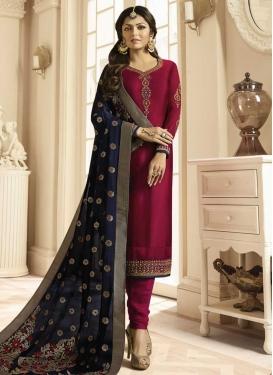 Drashti Dhami Embroidered Work Trendy Churidar Suit