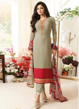 Drashti Dhami Embroidered Work Trendy Pakistani Salwar Kameez