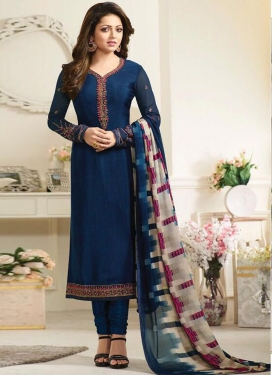 Drashti Dhami Embroidered Work Trendy Pakistani Salwar Suit