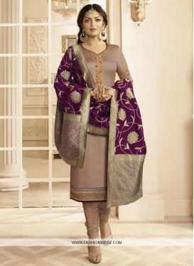 Drashti Dhami Satin Georgette Trendy Churidar Salwar Suit