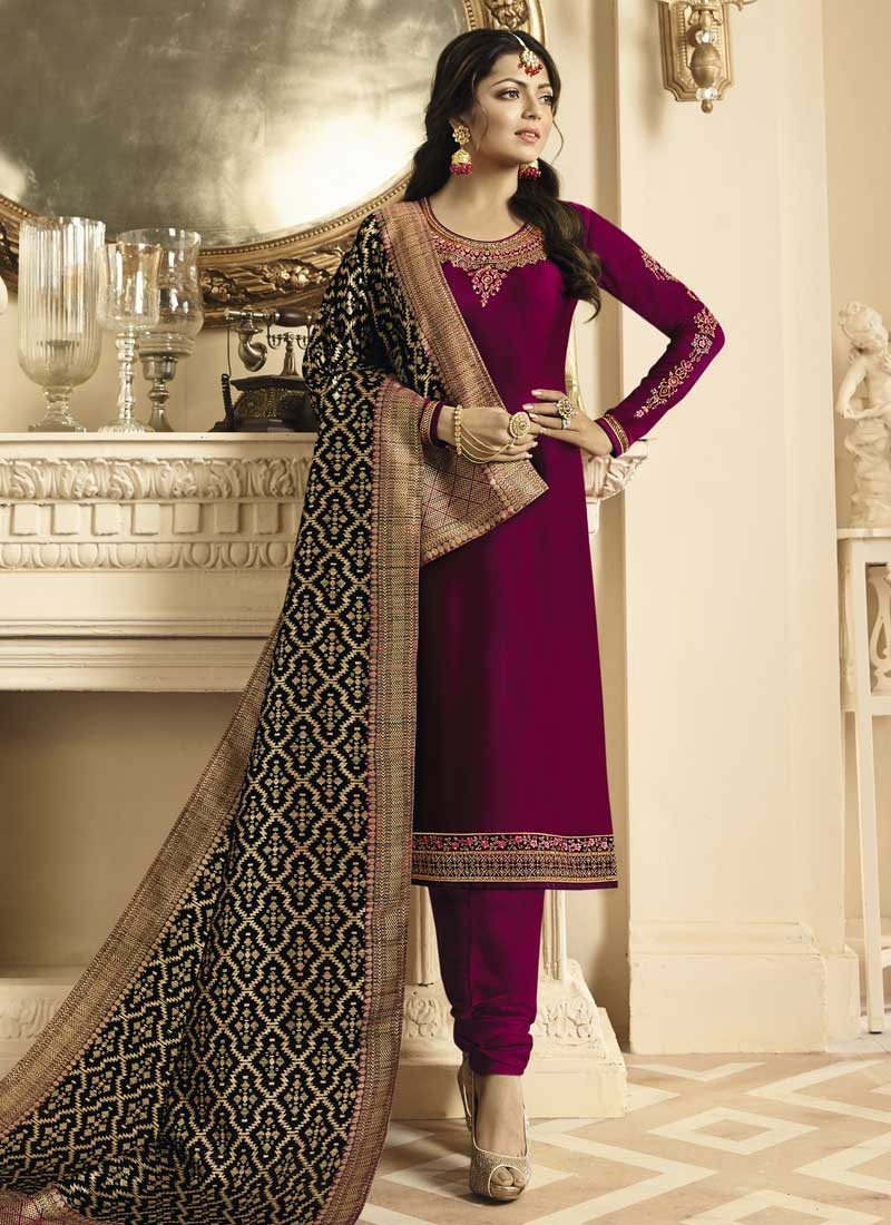 Drashti Dhami Trendy Churidar Salwar Suit For Festival
