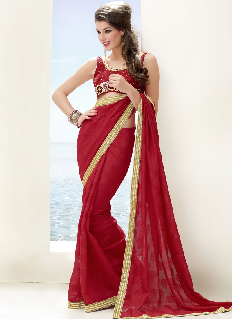 Elegant Chicken Enhanced Casual Saree
