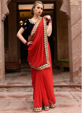 Elegant Contemporary Style Saree For Festival