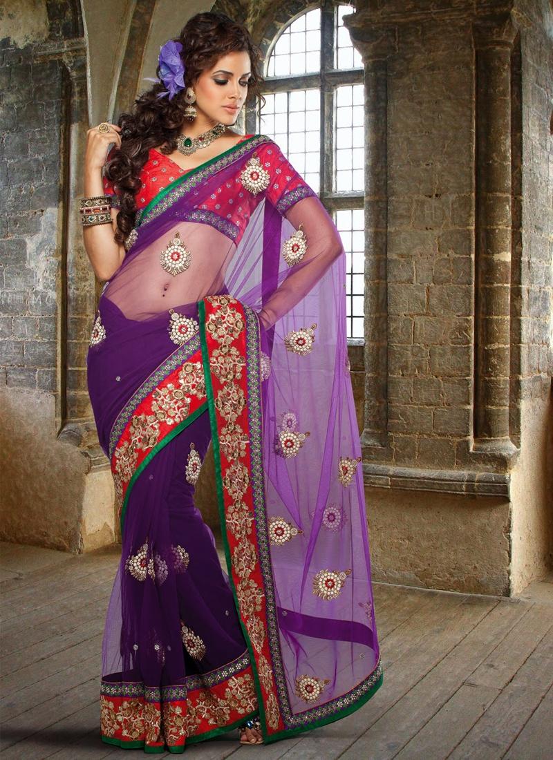 Elegant Floral Enhanced Party Wear Saree