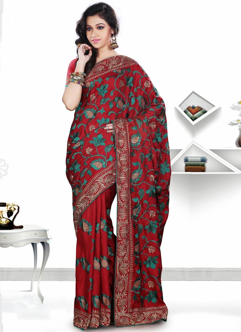 Elegant Pasmina Silk Party Wear Saree