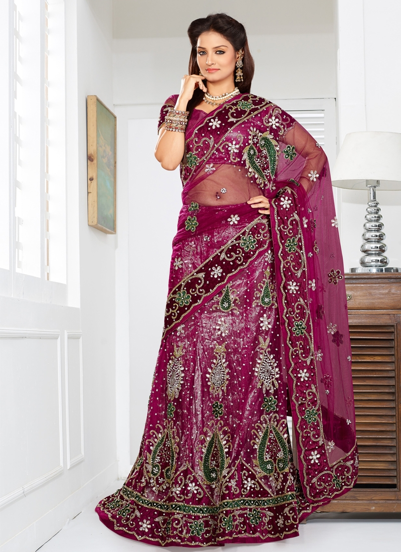 Elegant Velvet Enhanced Bridal Lehenga Choli